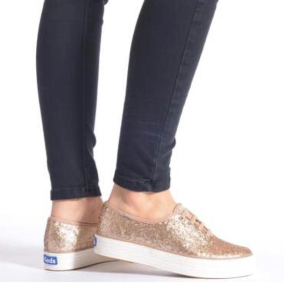 609672986d434 Keds Shoes - Keds Triple Glitter Platform Sneaker!